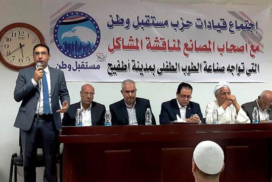 لقاء مطول مع أصحاب مصانع الطوب بقرية أطفيح (3)