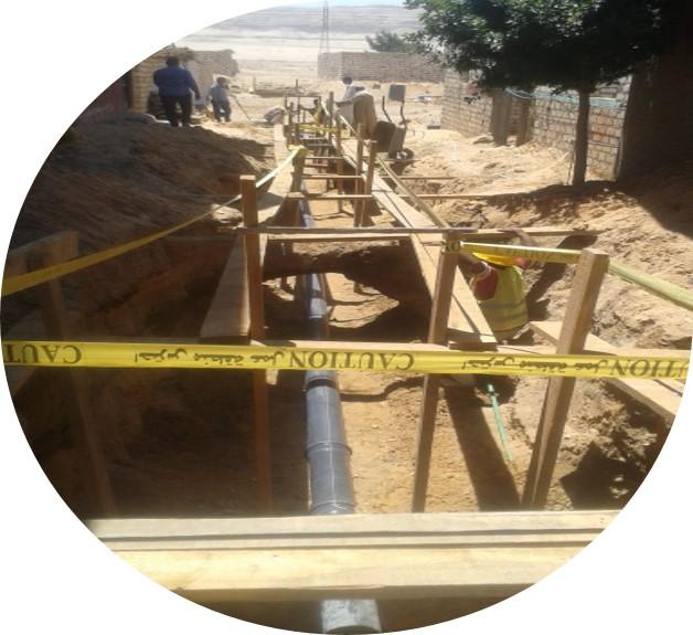 مشروع تنفيذ شبكات الصرف الصحى لقرية الغريزات