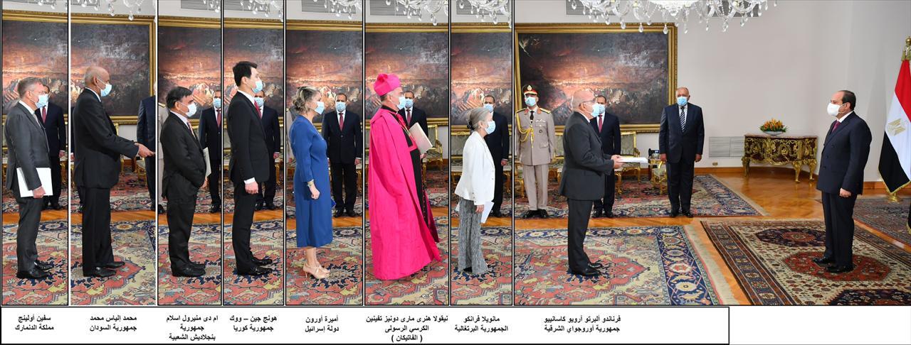 السيسى يتسلم أوراق اعتماد 15 سفيرا جديدا.. أبرزهم السودان وإثيوبيا وإسرائيل (2)