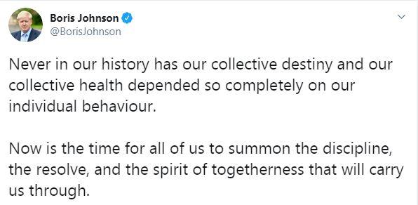 بوريس جونسون على تويتر