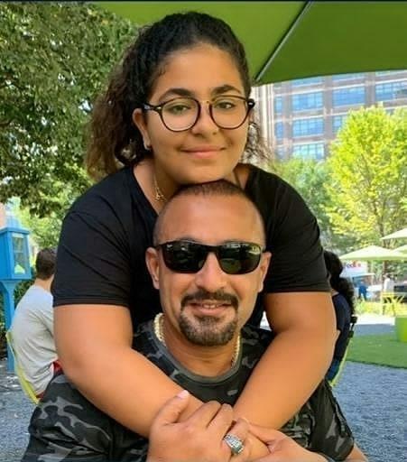 أحمد السقا مع ابنته