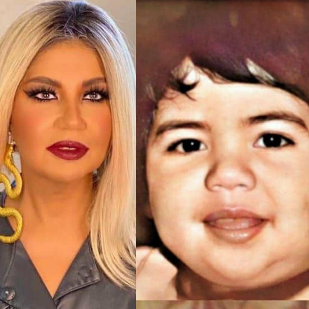 بوسي شلبي في طفولتها وبالوقت الحالي