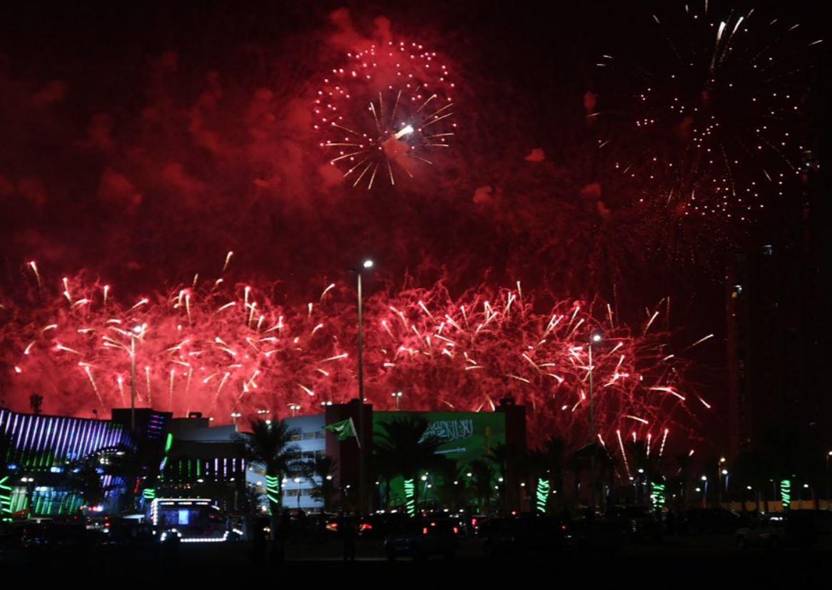 احتفالات السعوديين باليوم الوطني الـ 90