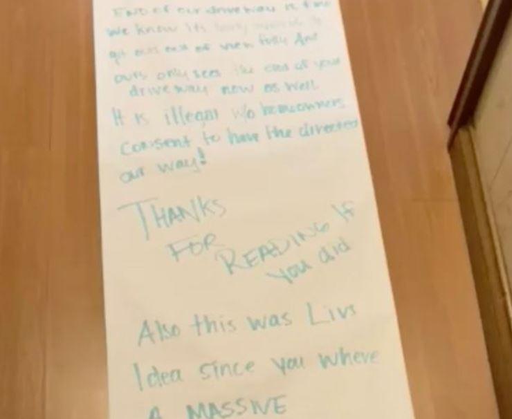 رسالة طولها 15 مترا من طفلة