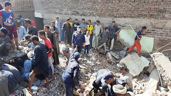 حادث انهيار منزل بسوهاج (3)