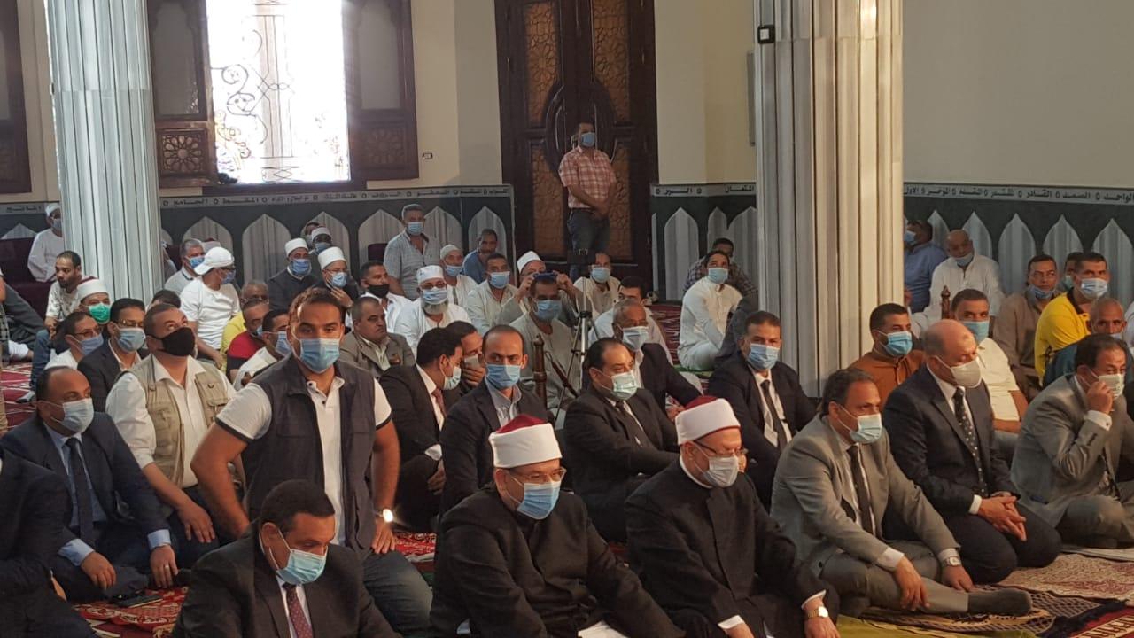 خلال افتتاح مسجد التقوى بالبحيرة