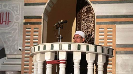 خطبة وزير الأوقاف خلال افتتاح مسجد التقوى (5)