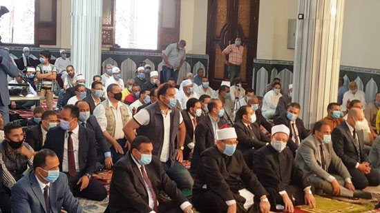 خطبة وزير الأوقاف خلال افتتاح مسجد التقوى (6)