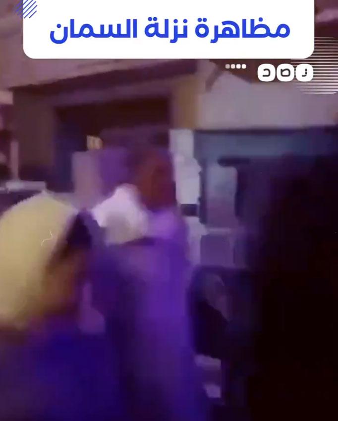 مظاهرة نزلة السمان المفبركة التى أذاعتها شبكة رصد الإخوانية2