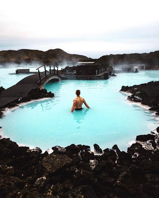 بلو لاجون (آيسلندا) على انستجرام