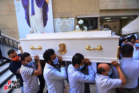 تشييع جثمان المنتصر بالله من كنيسة ابو سيفين بالمهندسين (2)