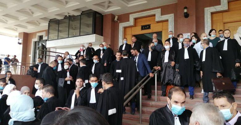المحامون يحتجون في مجلس قضاء الجزائر