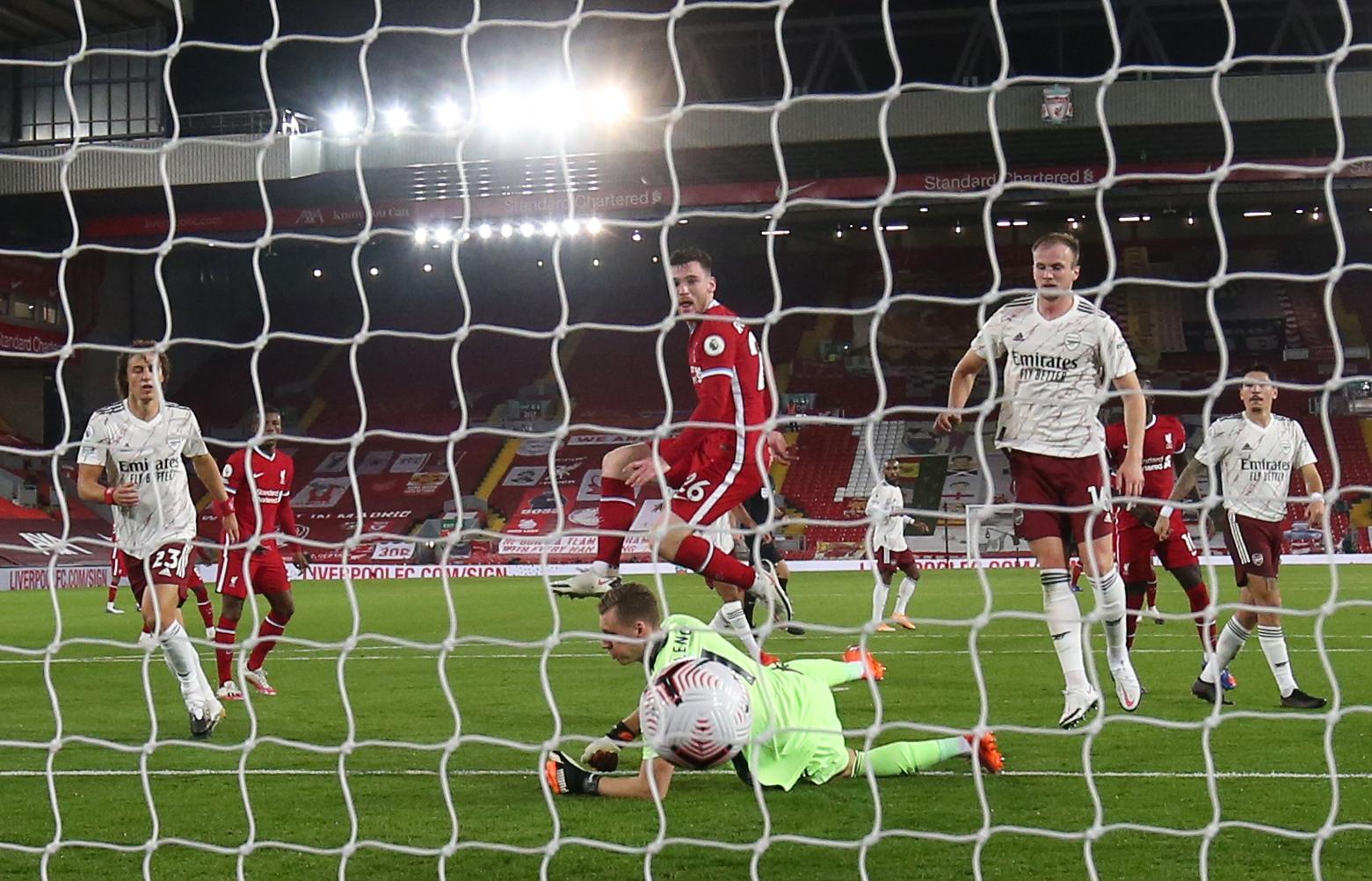 اندى روبيرتسون يسجل هدف ليفربول الثانى