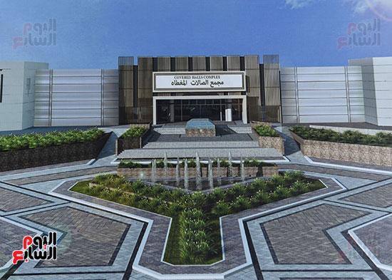 أعمال تطوير مجمع الصالات المغطاة باستاد القاهرة الدولى (10)