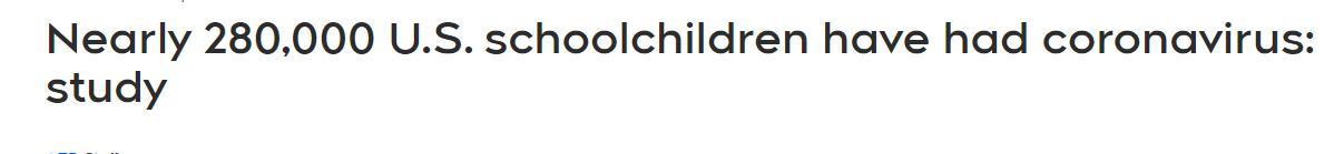 اصابة 281 ألف تلميذ أمريكى بفيروس كورونا