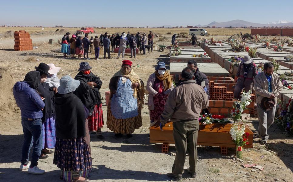 مقابر ضحايا كورونا