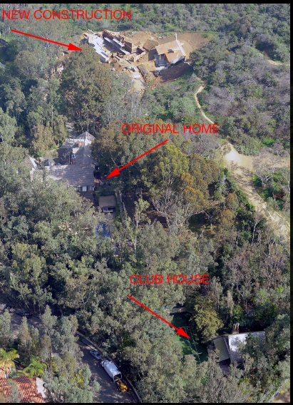 صورة توضح تجديدات منزل كلوني وامل علم الدين