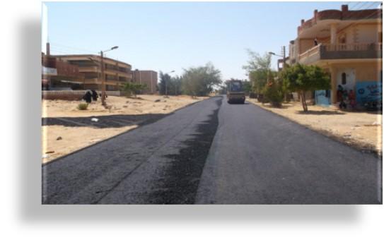 مشروعات رصف الطرق فى القرى