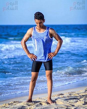 سمير أصغر لاعب كمال أجسام فى سيناء  (6)