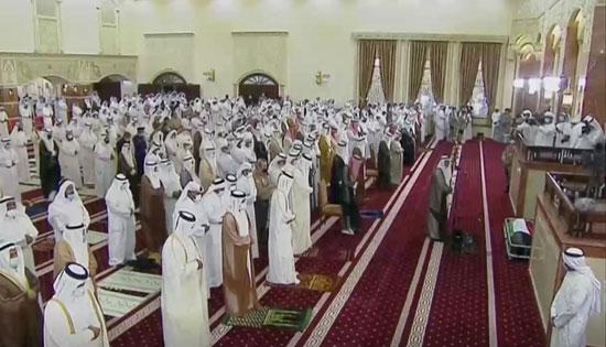 صلاة الجنازة على أمير الكويت