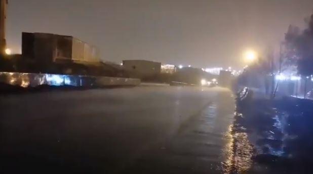 هطول أمطار غزيرة في مكة المكرمة