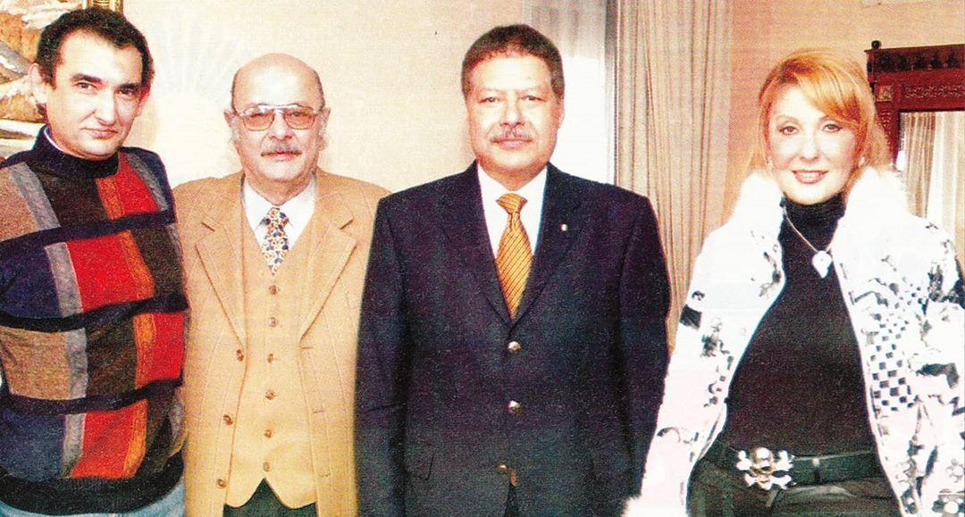 نادية الجندى وأحمد زويل