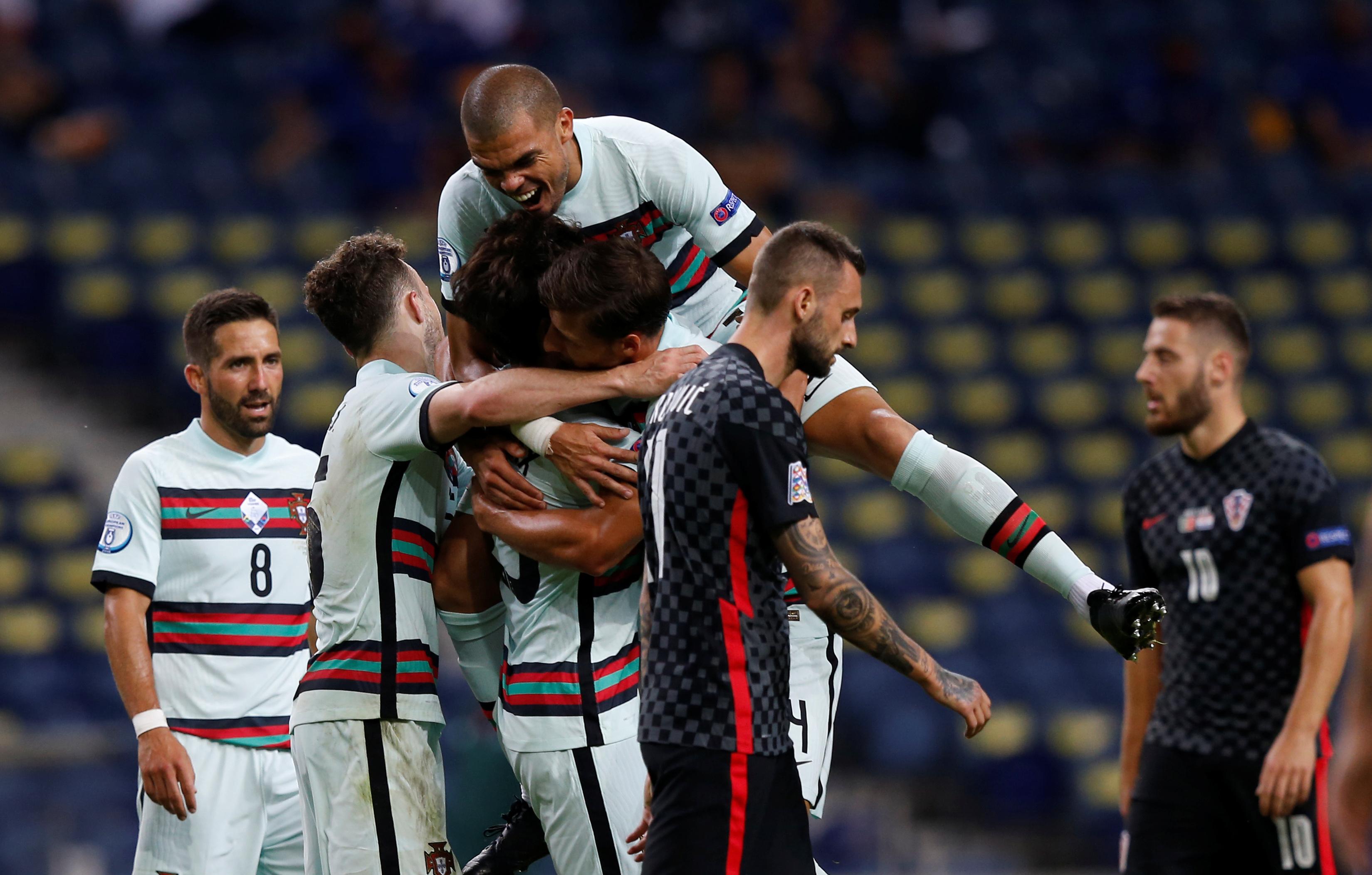 فرحة لاعبو البرتغال