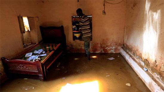 منزل مواطن سوداني بعد الفيضان