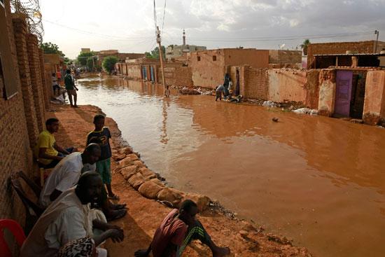 شوارع السودان غمرتها المياه