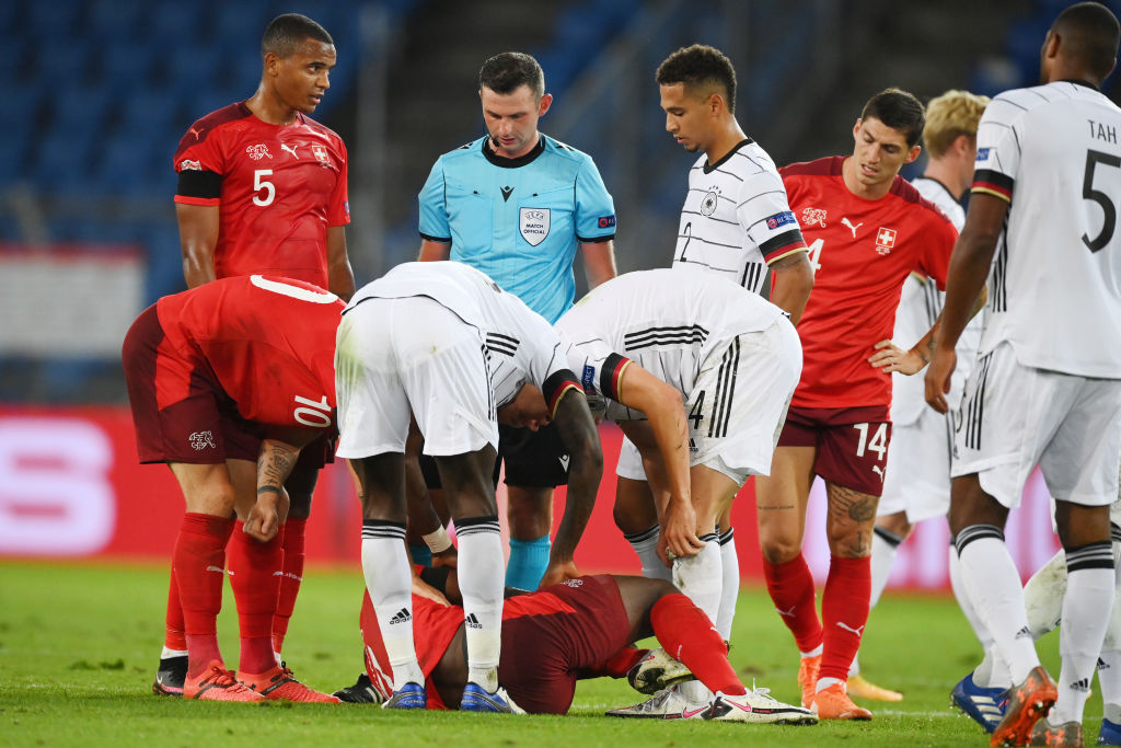 اصابة لاعب سويسري
