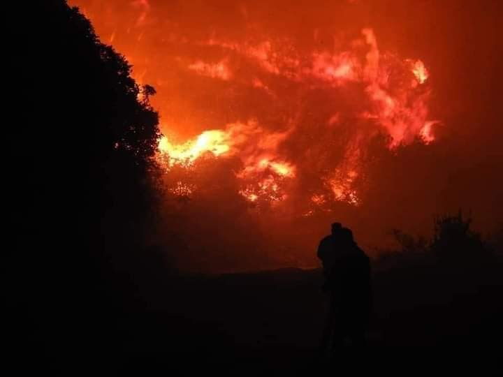 حريق هائل فى ريف مصياف