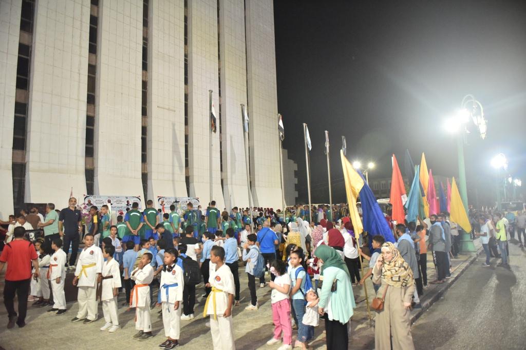 انطلاق شعلة اولمبياد الطفل المصرى باسيوط (9)