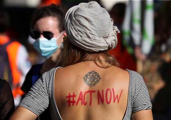 مشاركة في مظاهرات المناخ
