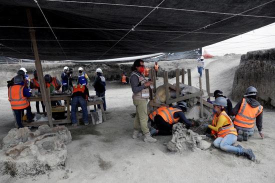 فريق العمل في منطقة الأثر