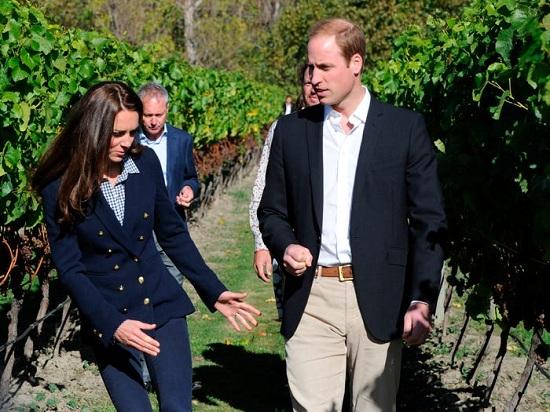 كيت في زيارة لنيوزيلندا