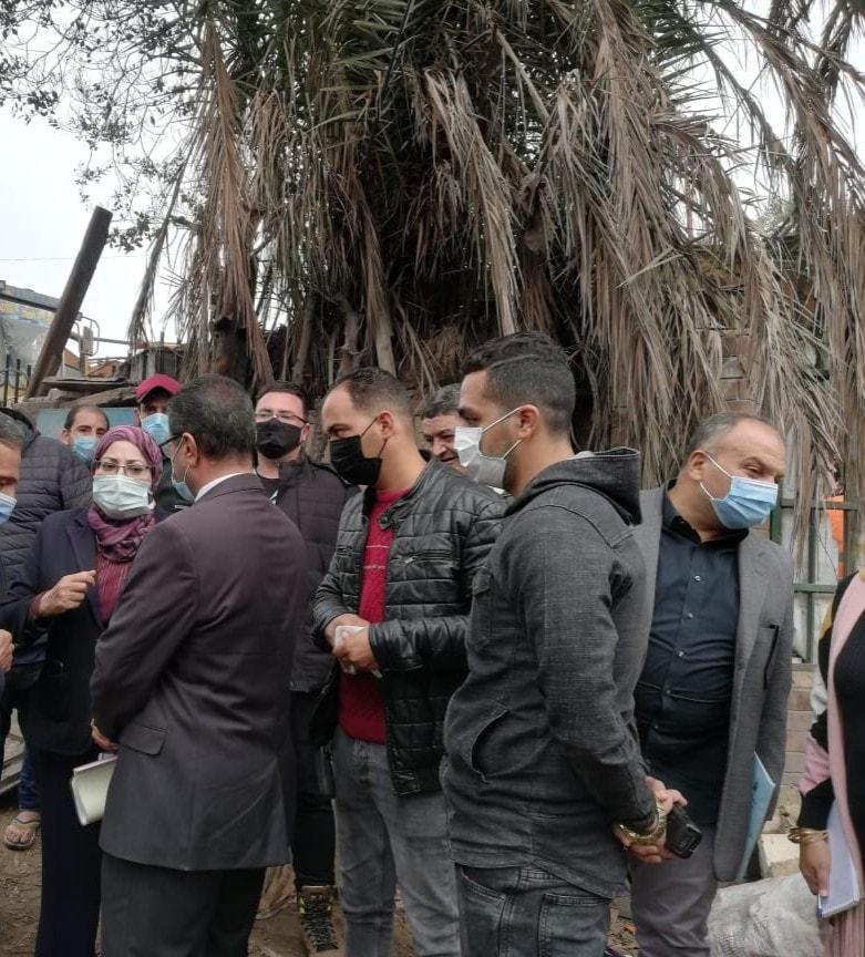 نائب محافظ القاهرة تشرف على أعمال نقل السكان (1)