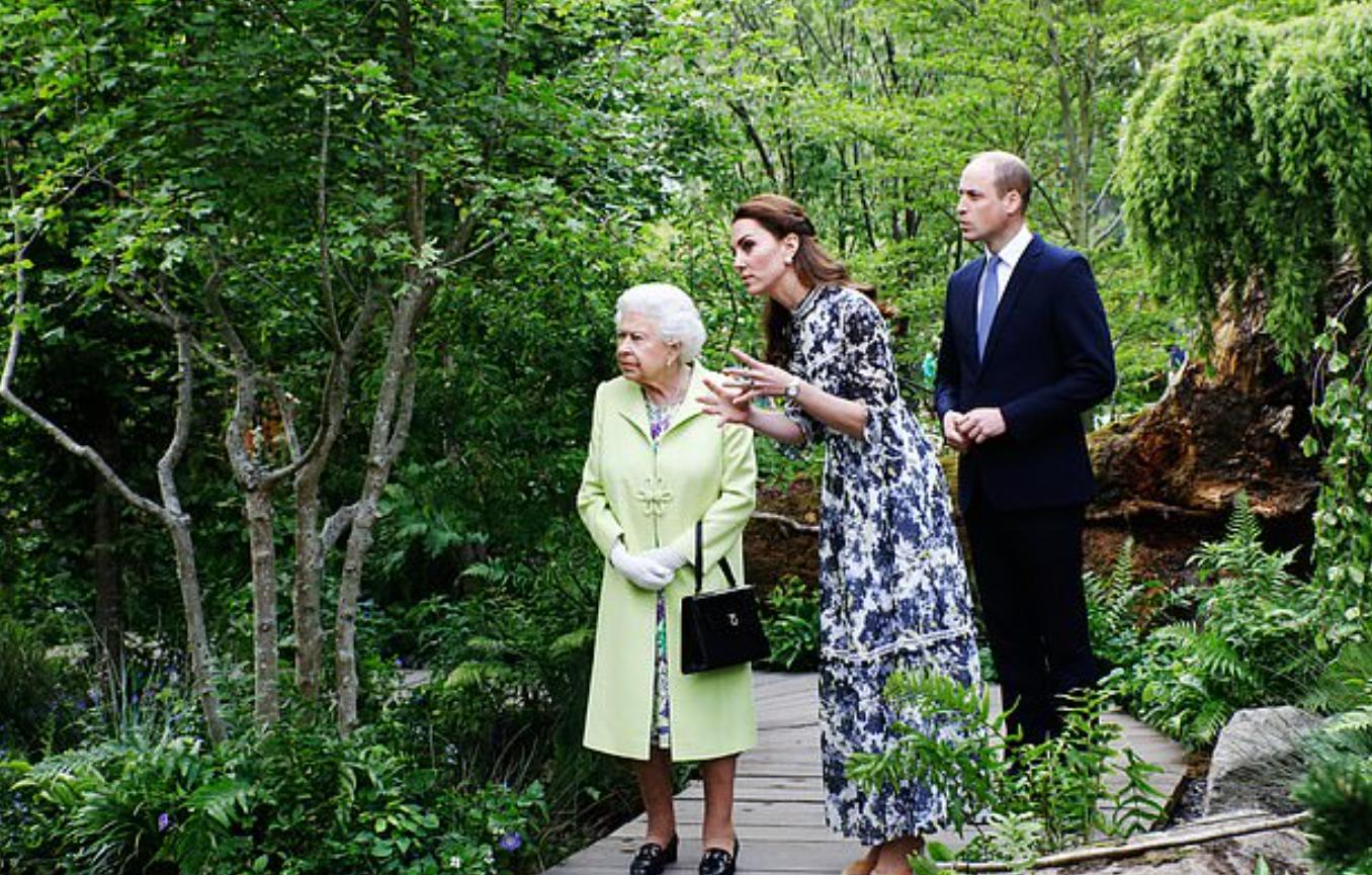 كيت ميدلتون والملكة اليزابيث