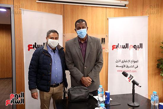 ربيع ياسين يزور اليوم السابع ويجرى لقاء موسعا ويشيد بتجربة التليفزيون (8)
