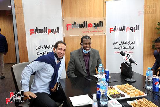 ربيع ياسين يزور اليوم السابع ويجرى لقاء موسعا ويشيد بتجربة التليفزيون (9)