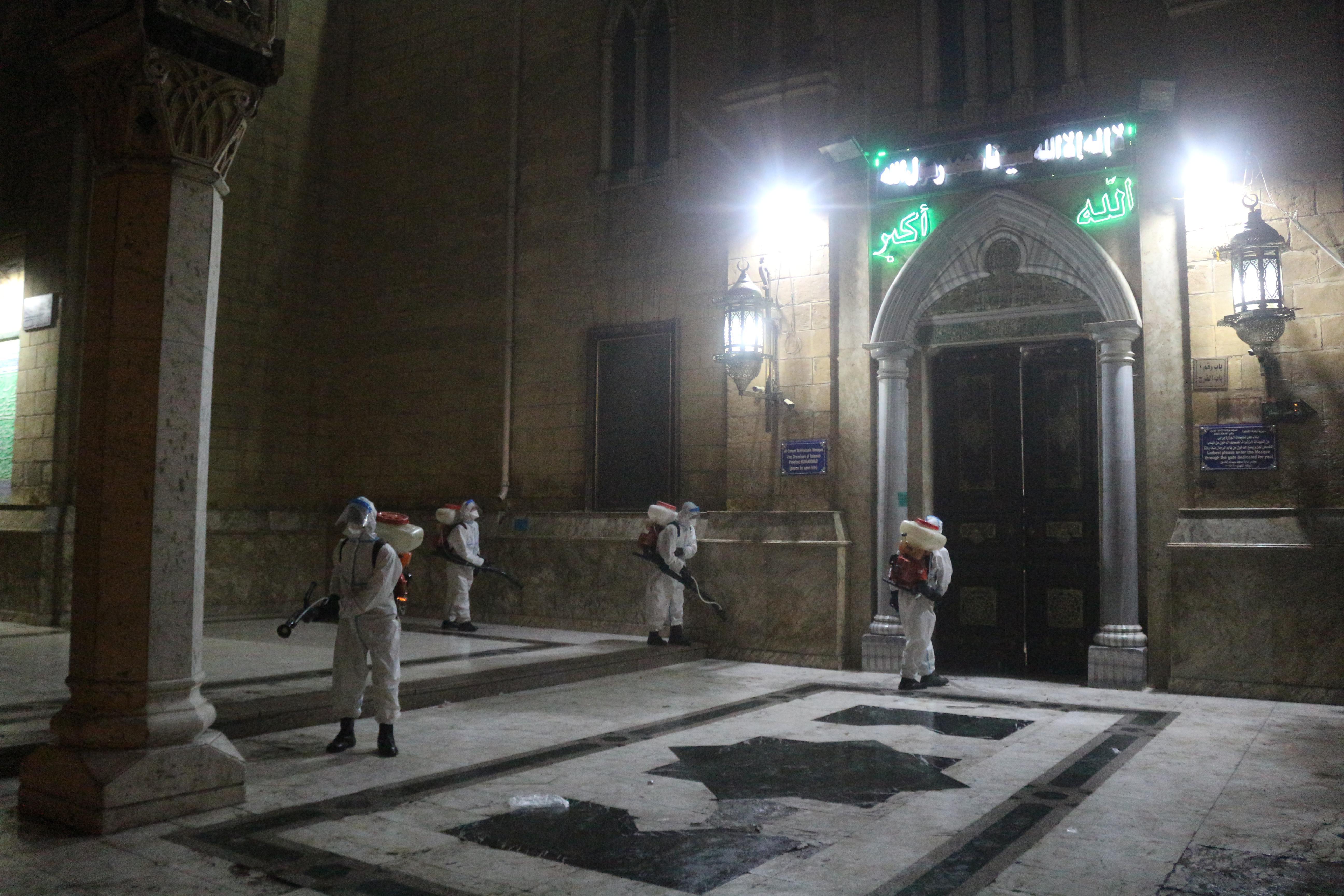 تعقيم مسجد الحسين