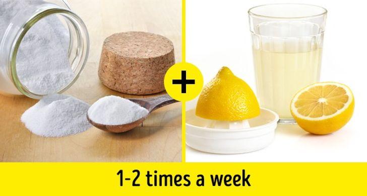 البيكينج بودر وعصير الليمون