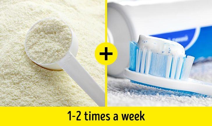 الحليب المجفف ومعجون الأسنان