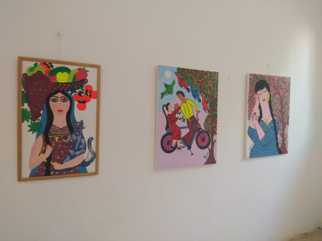 جانب من لوحات معرض جنوبيات