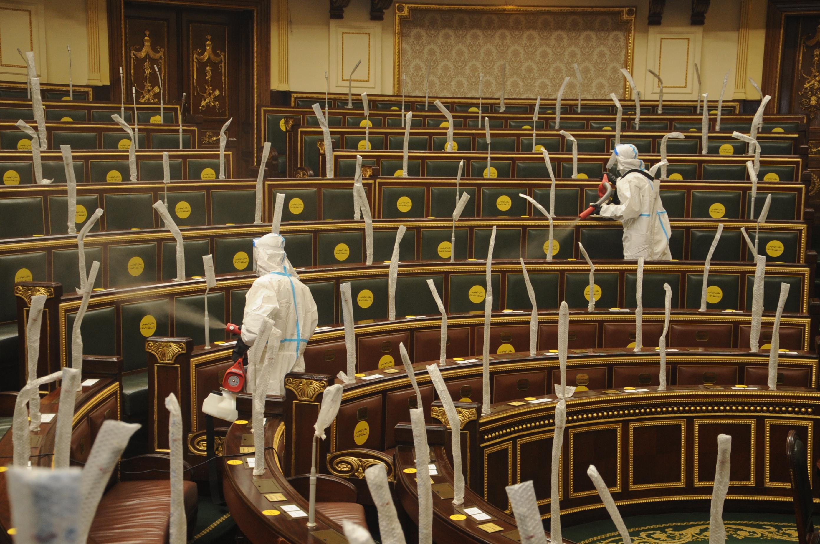 تعقيم وتطهير قاعات مجلس النواب