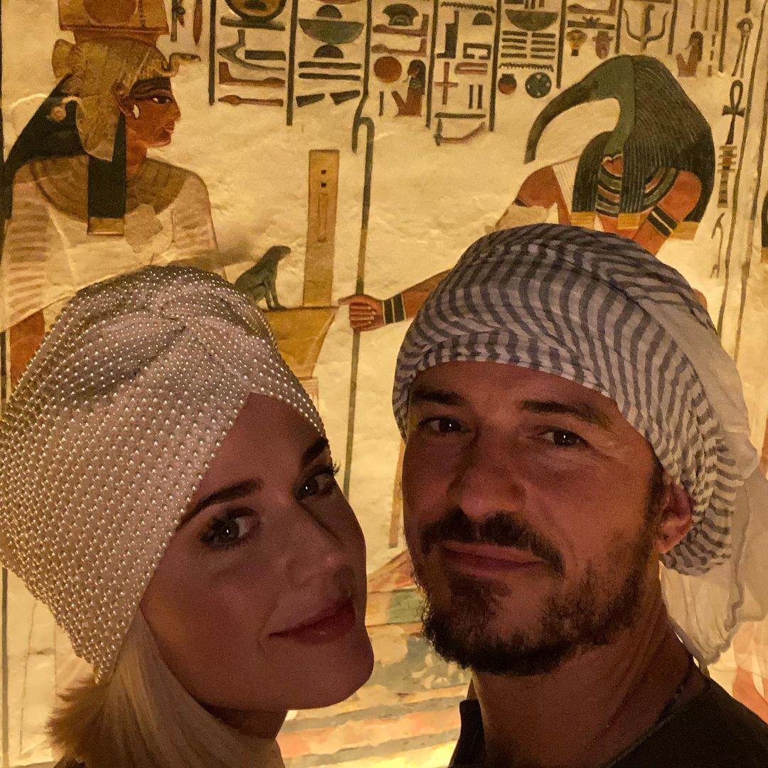 كاتي بيري وزوجها في زيارة سابقة لمصر