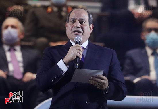الرئيس السيسي يعلن افتتاح بطولة كأس العالم لليد