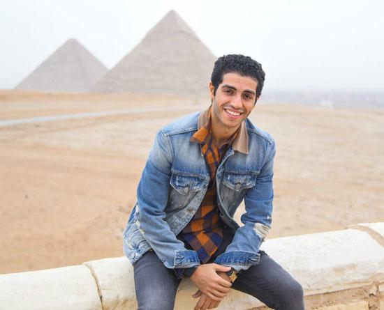 مينا مسعود يزور الأهرامات رفقة وزيرى السياحة والهجرة (6)
