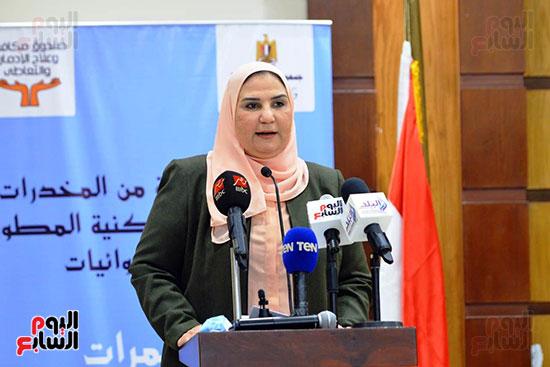 نيفين القباج وزيرة التضامن الاجتماعى (8)