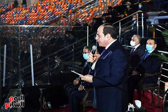 الرئيس السيسي يعلن الافتتاح