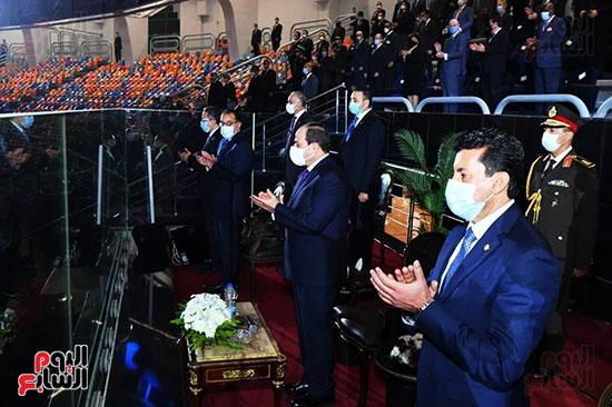 الرئيس يعلن افتتاح بطولة كأس العالم لكرة اليد